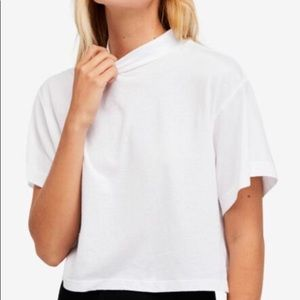 Free People Mock Neck T-shirt
